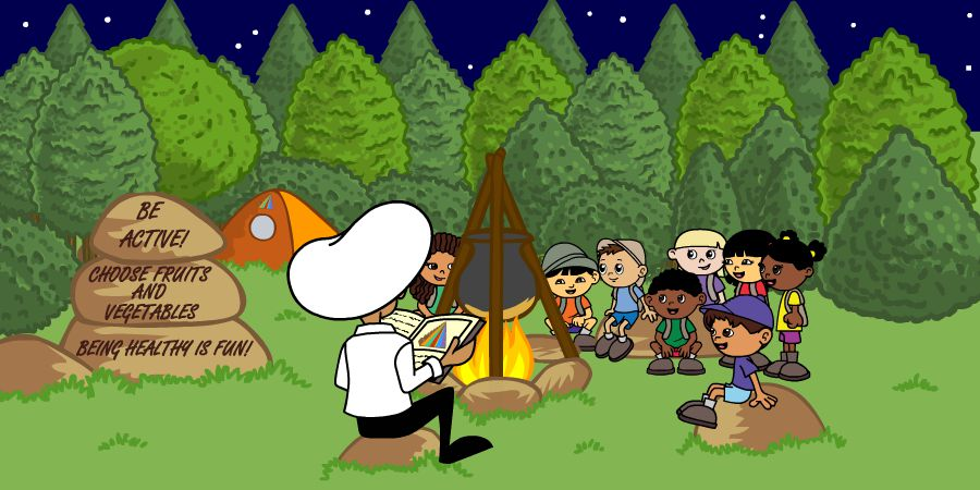 campfire story time