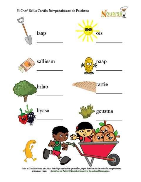 Palabras de jardiner a descifra para ni os for Imagenes de jardineria gratis