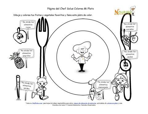 Página De Dibujar Del Chef Solus Colorea Mi Plato