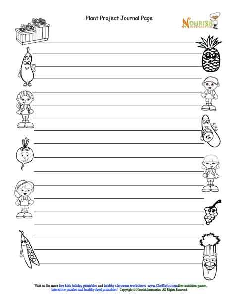 graphic relating to Printable Garden Journal named Young children Gardening Magazine Access Website page - Black and White Web site