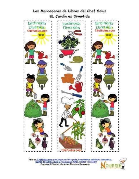 Marcadores de libros imprimibles para ni os de la for Libros de jardineria