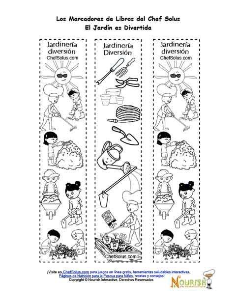 P gina de colorear de marcadores de libros imprimibles de - Libros sobre jardineria ...