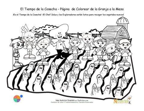 Hoja de Colorear Para Niños: Es la Temporada de la Cosecha