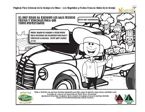 Página para Colorear Para Niños - Las Frutas y Vegetales Listos Para ...