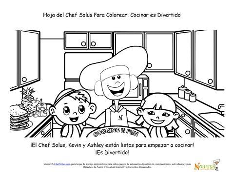 Página Para Colorear La Cocina Es Divertida