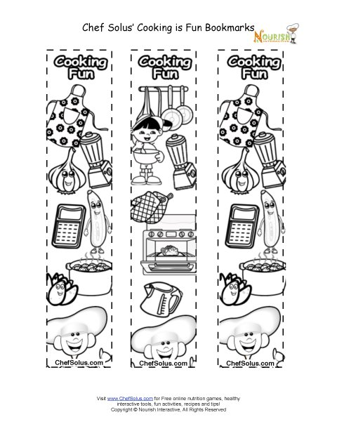 Bookmarks - Make Your Own Recipe Book Bookmark Coloring Sheet