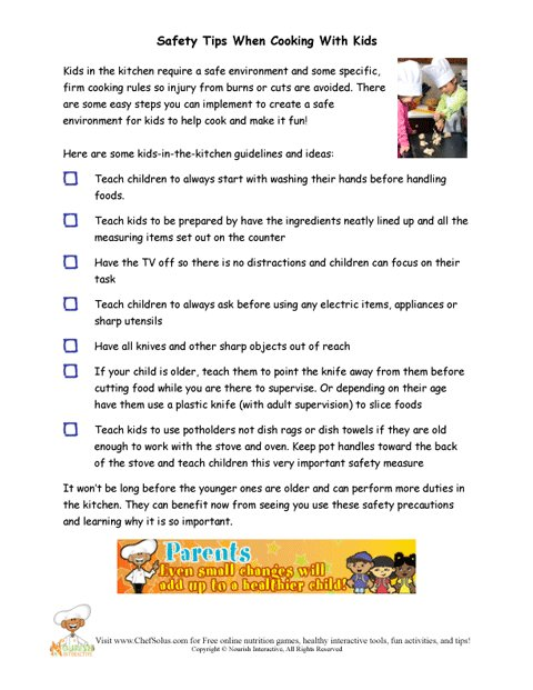 Recommended Safety Tips When Cooking With Children