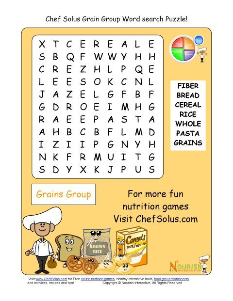 photograph regarding Spanish Word Searches Printable named Printable - Term Appear Puzzle - Grains Neighborhood