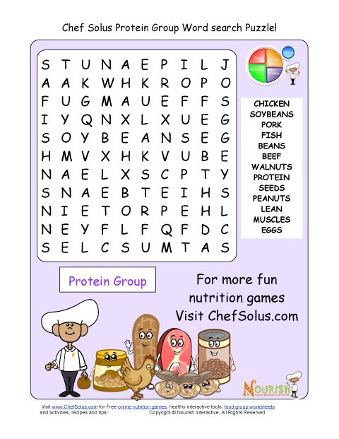 Printable 13 word search puzzle protein group m4hsunfo