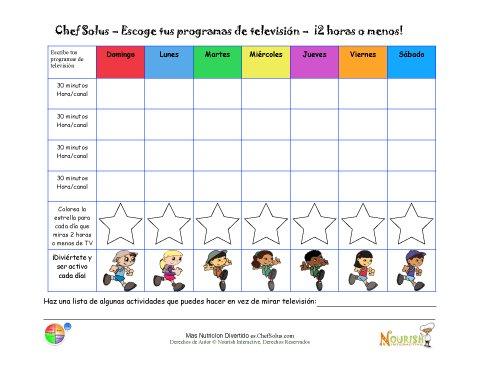 Gráfico Para Limitar La Televisión Para Niños - Hojas Del Progreso ...
