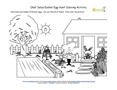 Holiday 5 Hidden Easter Egg Hunt Coloring Page
