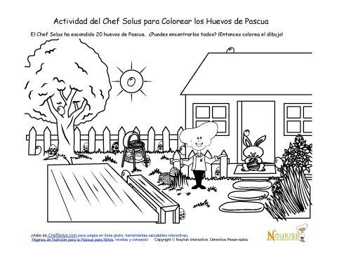 Día Festivo 5 Página de Colorear de la Búsqueda de Huevos Escondidos ...