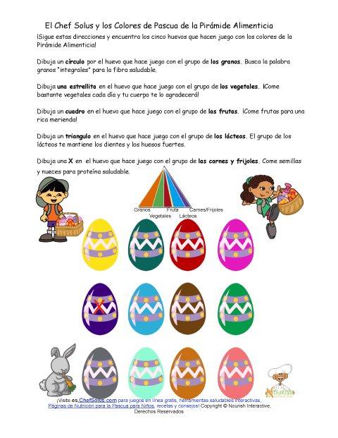 Divertida Hoja de Trabajo de la Pirámide Alimenticia y los Huevos de ...