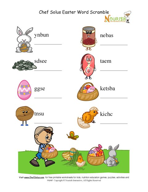 Holiday 5 unscramble words puzzle protein food group