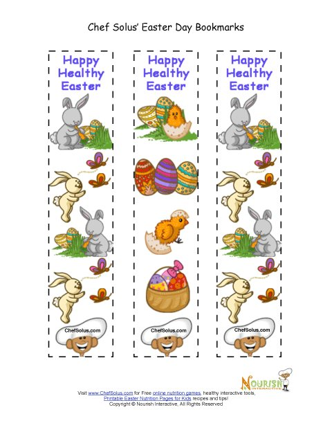 Holiday 5 Colorful Easter Themed Fun Bookmarks