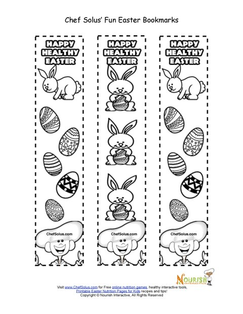 Holiday 5 Easter Bookmark For Kids Coloring Page