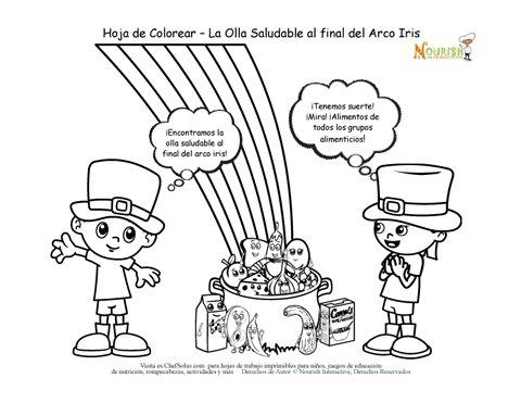 Coloridos Alimentos Saludables Verdes