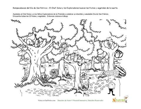 Busca El Bosque De Frutas Y Vegetales Verdes De La Suerte