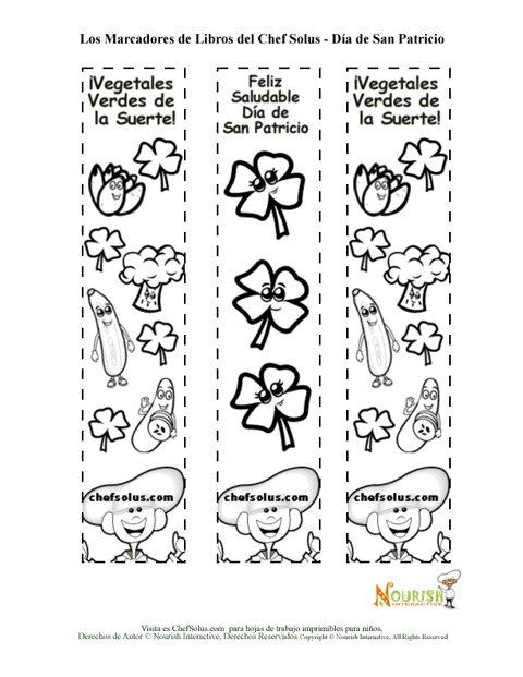 Día Festivo 4 Página de Colorear Marcadores de Libros Para el Día de ...