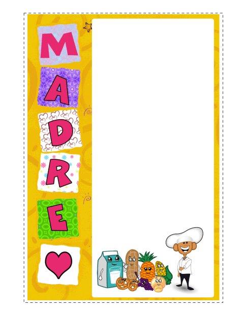 Día Festivo 6 Tarjeta Personalizada para Dibujar –Día de las Madres