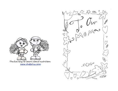 holiday 6 coloring page mother s day card. Black Bedroom Furniture Sets. Home Design Ideas