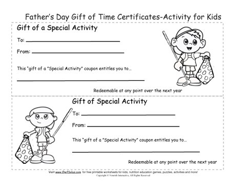 printable father s day gift certificates coloring sheets. Black Bedroom Furniture Sets. Home Design Ideas