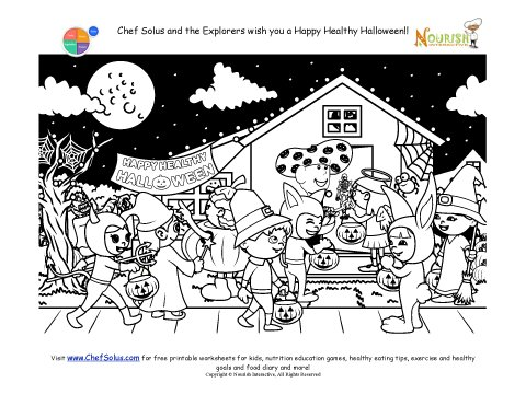 Chef Solus Fun Coloring Halloween