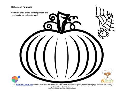 Kids Jack O Lantern Drawing And Coloring Page