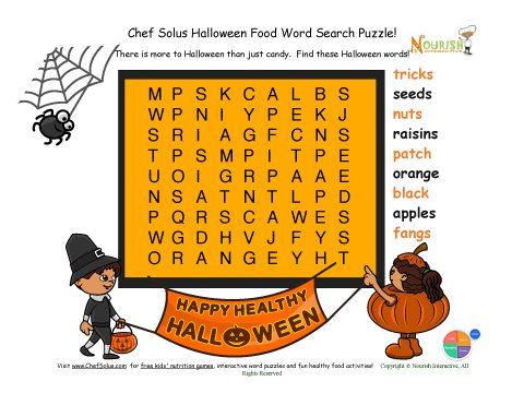 Holidays 10 Word Search Halloween fun for Younger Kids 9 words