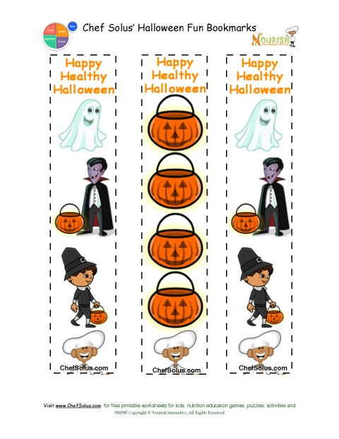 Holidays 10 Printable Colorful Halloween Fun Bookmarks
