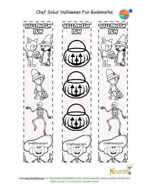 Holidays 10 Printable Bookmark Halloween Coloring Page For