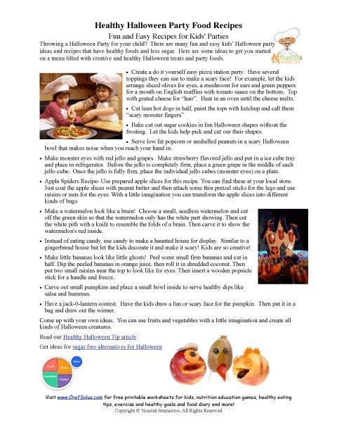 Holidays 10 Healthy Halloween Party Recipe Ideas