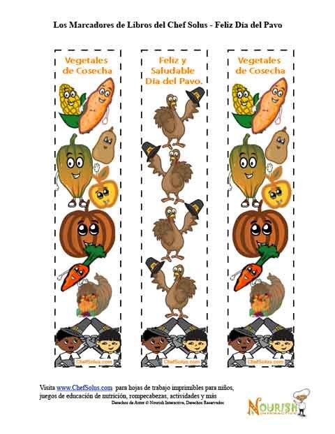 Días Festivos 11 Coloridos Marcadores de Libros - Día de Acción de ...