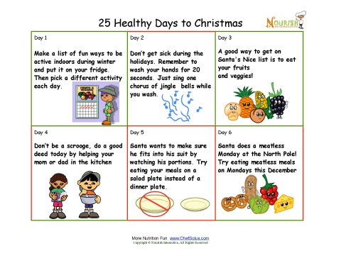 chef solus my plate 25 healthy days to christmas activity. Black Bedroom Furniture Sets. Home Design Ideas