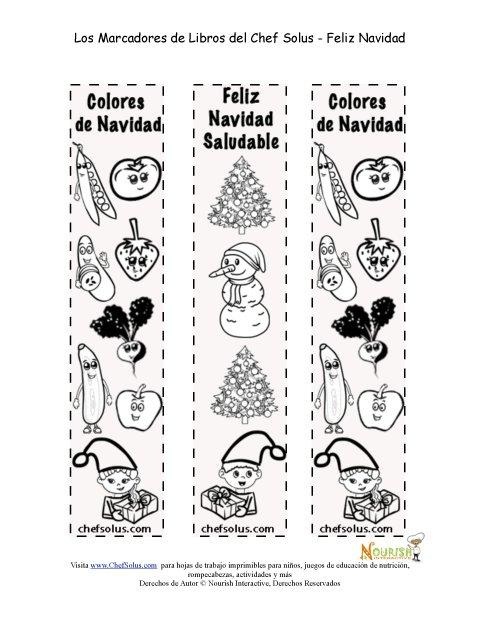 Días Festivos 12 Marcadores - Página Para Colorear Para La Navidad ...