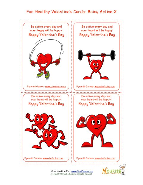 Holiday 2 Healthy Heart Fun Valentine S Day Card