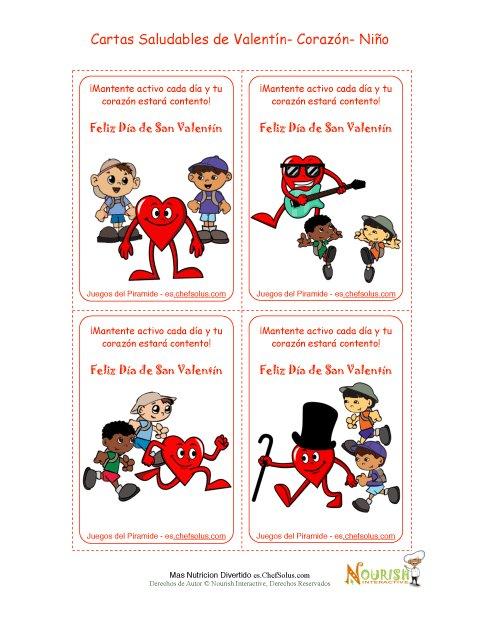 Día Festivo 2 Opciones Saludables Para Niños - Tarjetas Para el Día ...