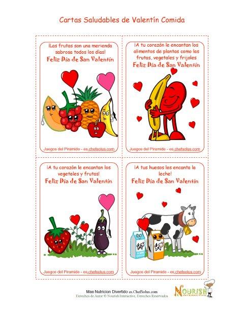 Día Festivo 2 Comidas Saludables - Tarjetas Para el Día de San Valentín