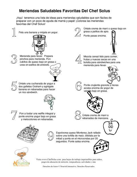 Recetas Favoritas Del Chef Solus Para Meriendas Saludables Para Niños