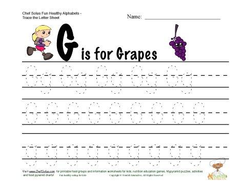 Number Names Worksheets : letter g tracing worksheets preschool ...