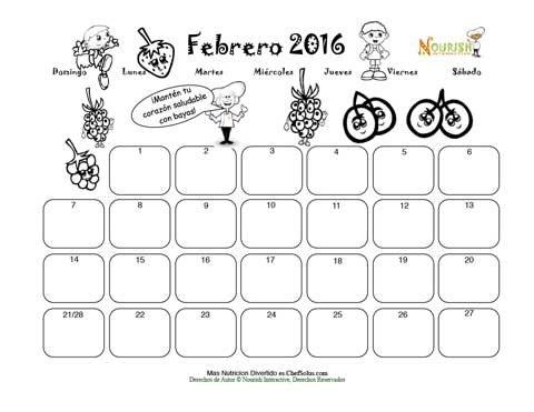 Calendario Para Escribir.Febrero El Corazon Saludable Y Las Bayas Calendario Para