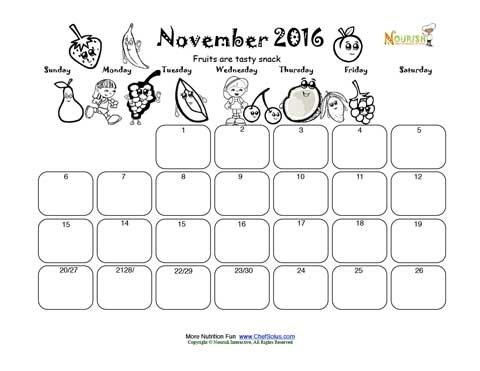 November Fruit Group Fun Write