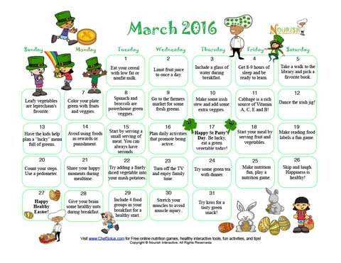 March Happy St Patricks Lucky Vegetables Month Healthy