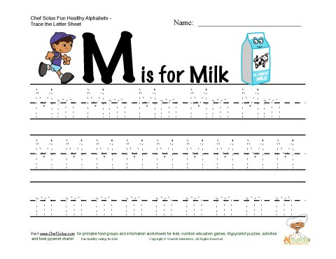 Worksheets preschool letter m worksheets : Number Names Worksheets ...