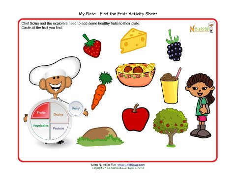math worksheet : my plate activity for children  fruit food group  make a healthy  : Healthy Food Worksheets For Kindergarten