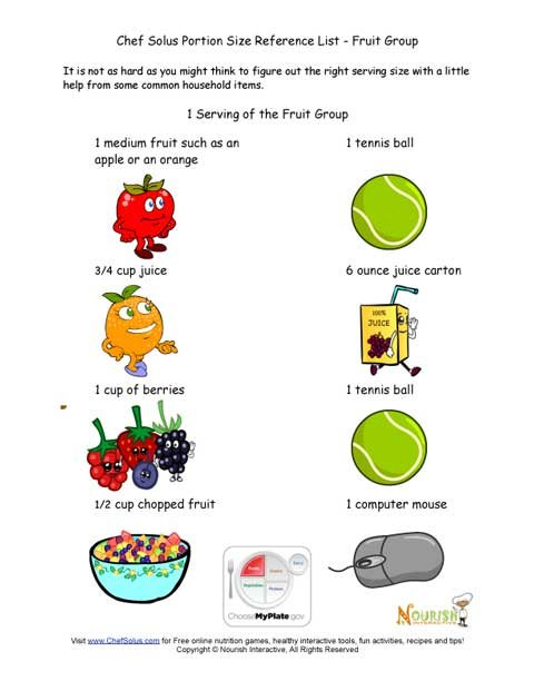 Estimating Fruit Servings - Portion Sizes Using Household
