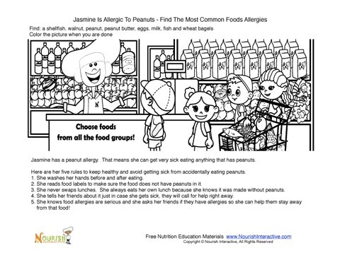 Food Allergy Hidden Food Allergy Activity Sheet For Children