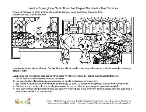 Alergia Alimentaria - Hoja De Actividades Para Niños De Alergias ...