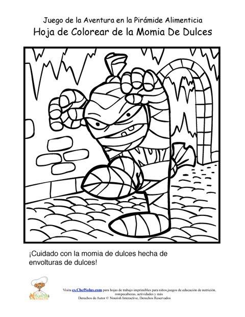 Página Para Colorear de la Momia del Juego de la Aventura de la ...