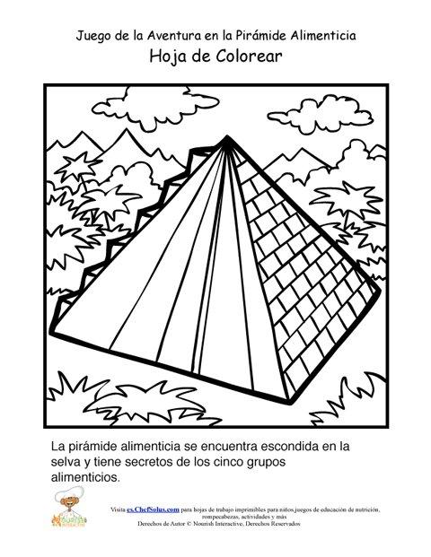 Página Para Colorear del Juego de la Aventura de la Pirámide ...